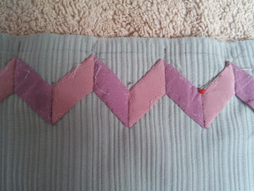 Bak ground fabric is quiet heavy due to the embossed weaving not that easy to appliqué on to?????