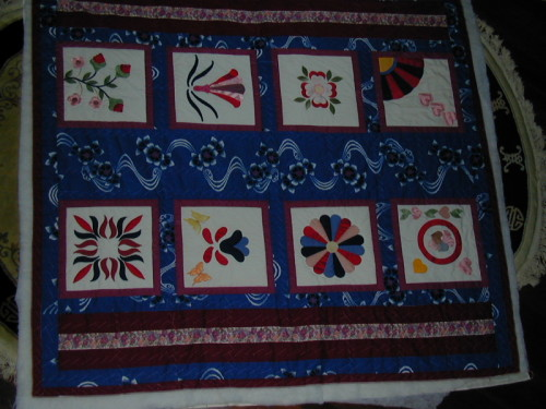 If I can find it I would like to do more hand quilting on this one?????