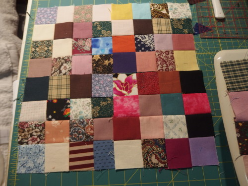 Its wonderful to see all these scraps becoming a block from just sewing to