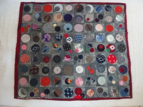My first of 4 Quilty365Circle quilts Im doing sashiko hand quilting on.