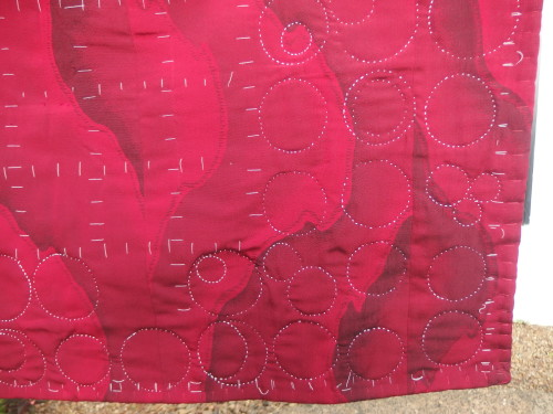 using a colton crochet thread while doing sashiko quilting on this quilt.