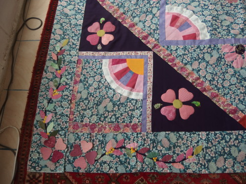 Corner border will look some thing like this whn sewn on and