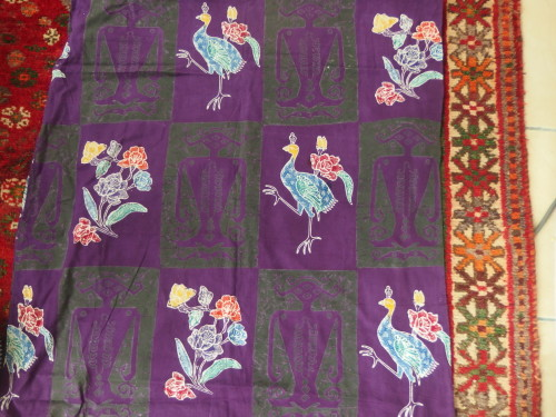This fun piece of fabric from the Philapines was given to me this week
