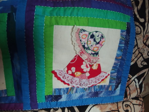 I made 32 of these Sunbonnet Sues for the friendship quilts none the same they were all different dresses and hats.