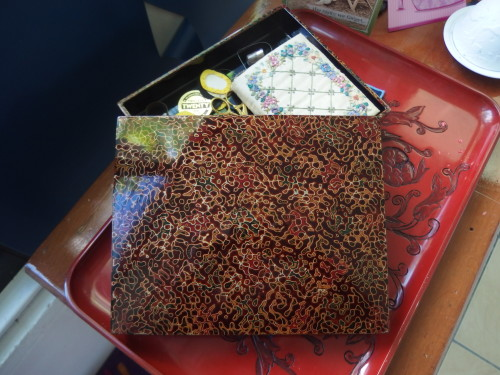 Antique Wakasa lacquer box