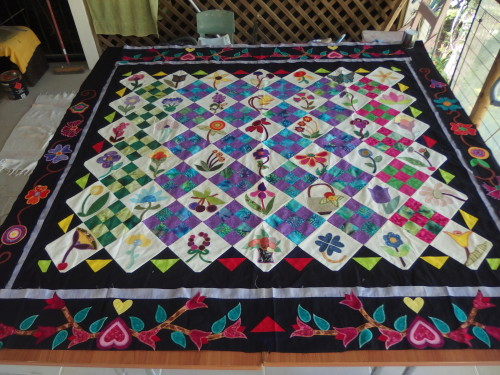 My adaptation of Florence Petro quilt