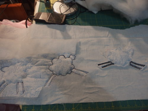 Back of machine appliqued sheep