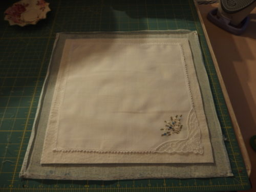 Then one of the hankies.