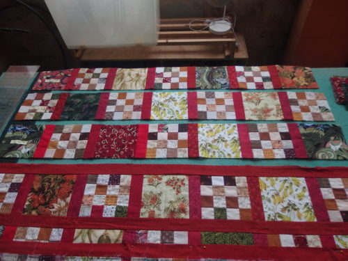 working on completing my ANZ quilt. Its called that as famil
