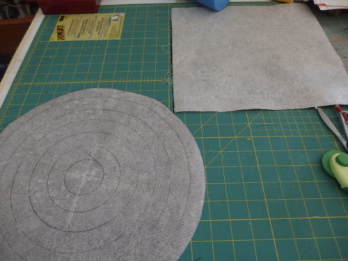Im about to make circles cut out of fabric with iron on fusing on the right and back side