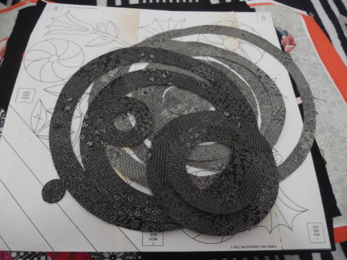 a pile of circles all cut out