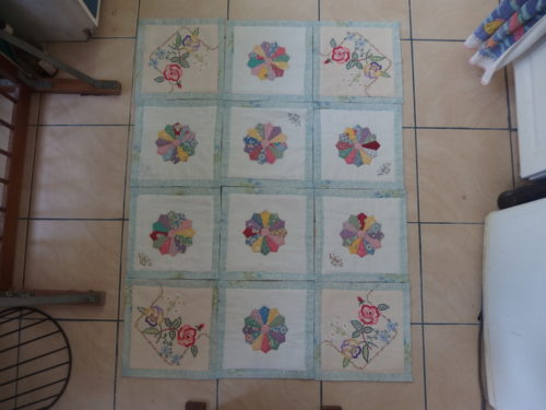 Ive also been working on making my QAYG antique hanky b