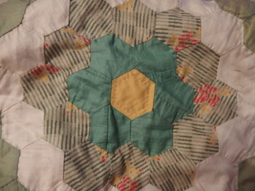 I have been quilting the hexagons
