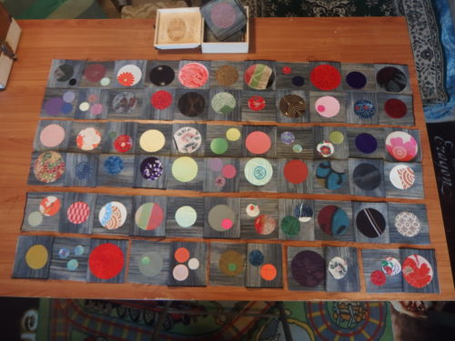 My last 21 days challenge is sewing my last 100 plus circles