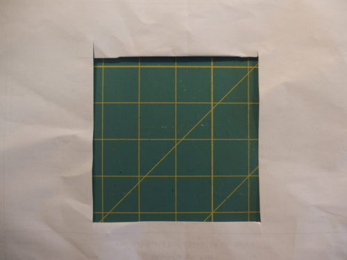 remove cut out square
