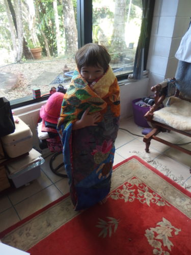 Wrapped in her wee cuddly quilt June 2017