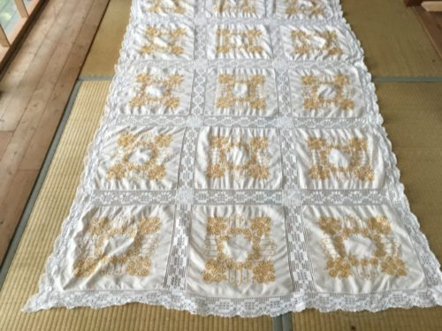 This amazing Hand embroidered table cl