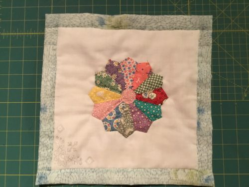 My last QAYG hankie Block so happy to have these all finished this month also.